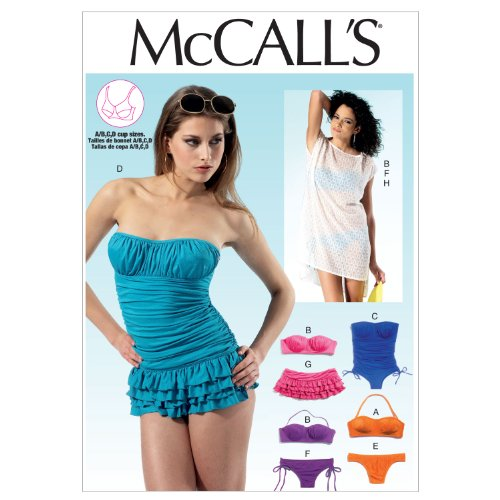 McCalls Patterns Swimsuits Cover Up 12 14 16 18 20