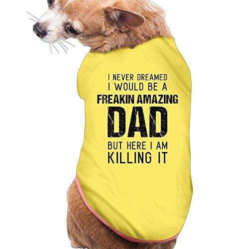 Amazing Dad Hero Plain WarmPet Puppy Tee Shirts Dress Plain Sleeveless Anxiety Calming Wrap Best Holiday Gift S (Walmart Cat Ears Halloween)