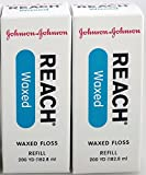 J&J Floss Refill 200 Yd. - Waxed (2 Pack)