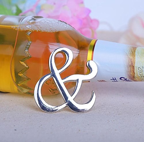 94pcs ''Mr. and Mrs.'' Ampersand Bottle Opener For Wedding Party Favor by cute rabbit (Image #3)