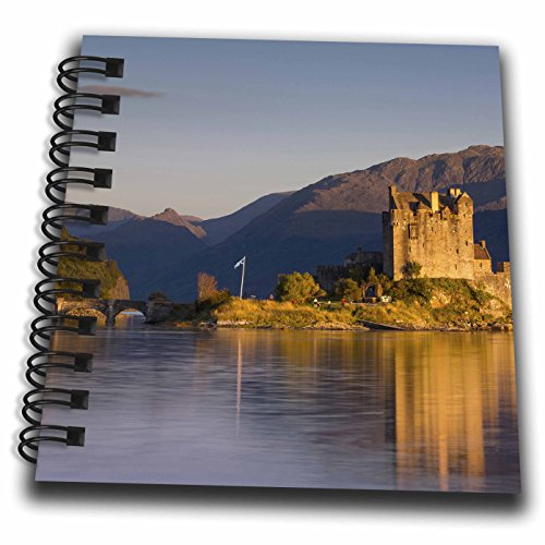 3dRose Danita Delimont - Castles - Sunset on Eilean Donan Castle along Loch, Dornie, Highlands, Scotland - Mini Notepad 4 x 4 inch (Highland Notepad)