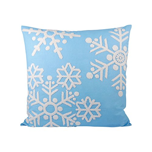 Traditional Décor Collection Malibu Snow Pillow 20X20-Inch