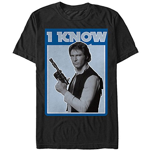 Star Wars Han Solo Quote I Know Mens Graphic T Shirt Medium Black