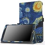 MoKo LG G Pad F 8.0 / G Pad II 8.0 Case, Slim Folding Cover for [4G LTE AT&T Model V495 / T-Mobile Model V496 / US Cellular Model UK495] & G Pad 2 8.0 [V498] 8 Inch Android Tablet, Starry Night