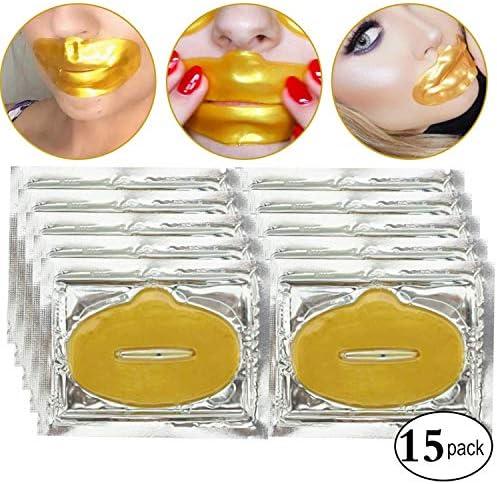 15 parches de colageno oro para humectar labios, mascara ...