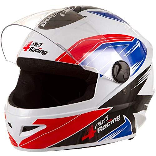Pro Tork Capacete 4 Racing 58 multicor (Branco/Vermelho/Azul)