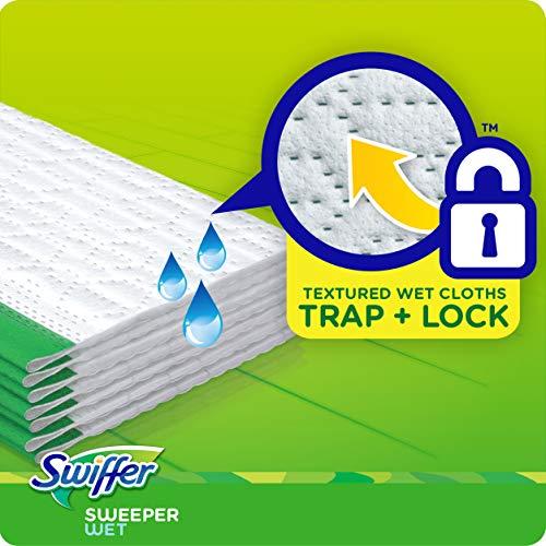Swiffer Sweeper Wet Mopping Pad Refills for Floor Mop with Febreze Lavender Vanilla & Comfort Scent 12 Count