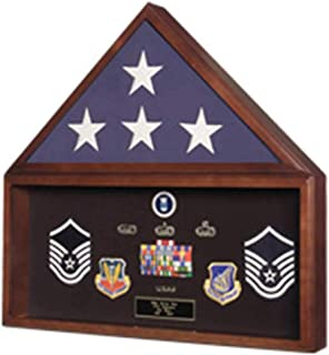 product image for Burial Flag Medal Display case, Ceremonial Flag Display, Medal Display case