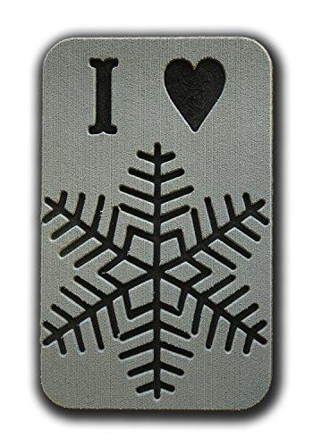 ToeJamR Stomp Pad - I Love Snow - Gray by Toejamr
