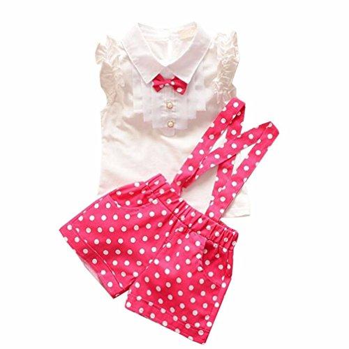 Bébé Pois Chaud Shorts 7 Hauts Strap Bow Pour Ans ❤️ensembles Amlaiworld Vêtements Dot Floraux De Set 2 Enfant Rose À Fille Filles Chemise x8Bpq7E7Sw