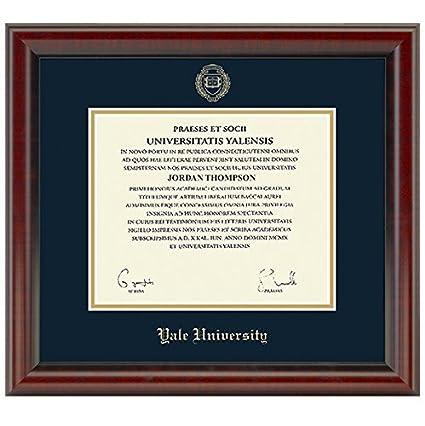 Amazon.com : Yale Fidelitas Diploma Frame : Sports & Outdoors
