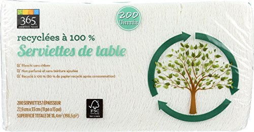 365 Everyday Value, 100% Recycled Lunch Napkins, 200 Count