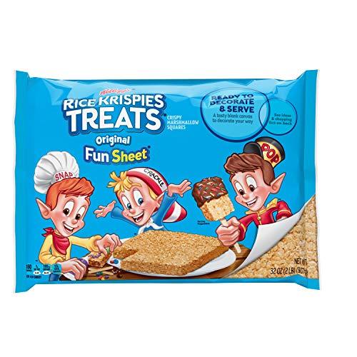 Kellogg's Rice Krispies Treats, Crispy Marshmallow Squares, Original, Fun Sheet, 32 oz Sheet (Treats Rice Krispie Marshmallow)