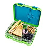 Leak Proof Bento Lunch Box Containers,Japanese Style, Insulated 4 Compartment, Reusable, Airtight, Sturdy, Meal and Snack Pack,Dishwasher and Microwave Safe,Suitable For Both School Kids and Adults