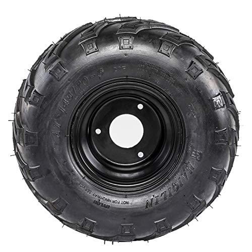 Bundle MSA Black Diesel 14 UTV Wheels 28x9.5 Outback Max Tires 9 Items 4x137 Bolt Pattern 12mmx1.25 Lug Kit