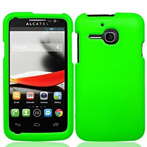 Green Hard Cover Case for Alcatel One Touch Evolve 5020T V3A8