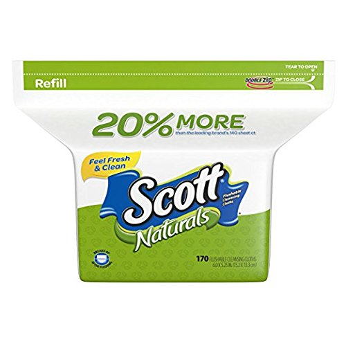 Scott Moist Wipes Refill (170 Wipes) - 2 Pack