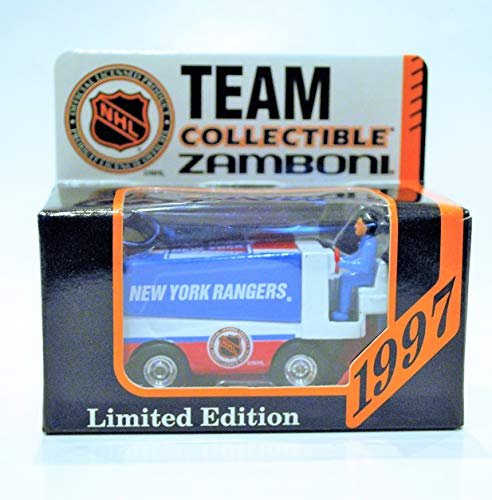 (1997 NHL Team Collectible 1:50 Scale Diecast Collectors Zamboni - NEW YORK RANGERS)