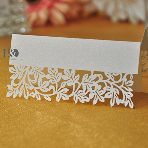Leaf Wedding Place Name Cards Personalised/Tableware/Seating /4 Colour ()