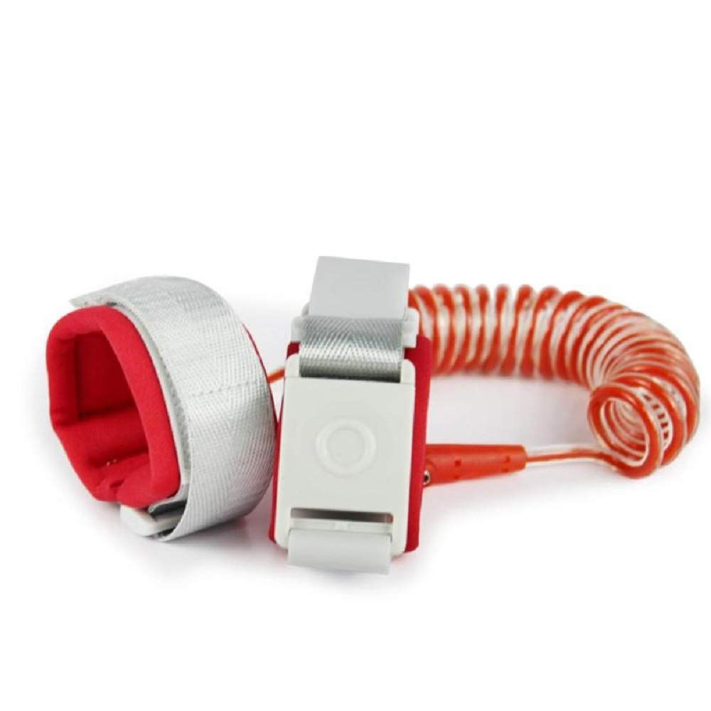 WWBLD Child Safety Harness Leash Induction Lock Anti Lost Wrist Link Rope Wrist Band Kids Walking Hand Belt Harness Leash Baby Care-red-2m/6.6ft