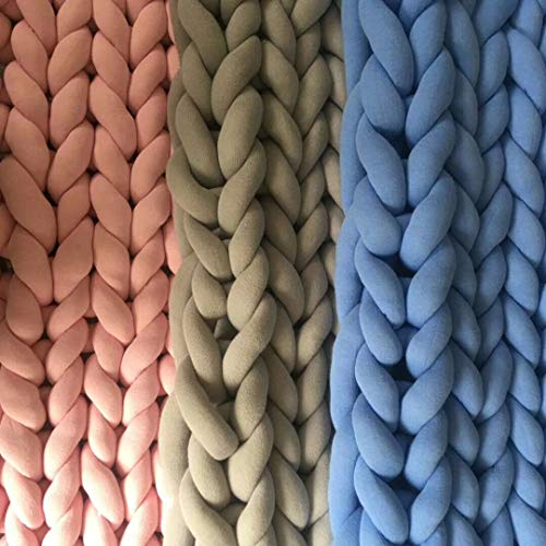 Wholesale Super Chunky Vegan Yarn, Acrylic Bulky Thick Roving Washable Softee Chunky Yarn for Arm Knitting DIY Handmade Blankets (Blue, 120m) by HomeModa Studio (Image #4)