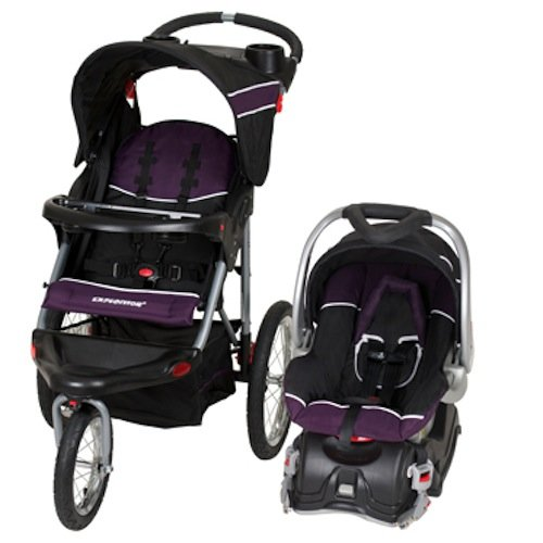 Amazon Baby Trend Expedition Jogger Travel System Infant Car Seat Carrier Stroller Royale Purple