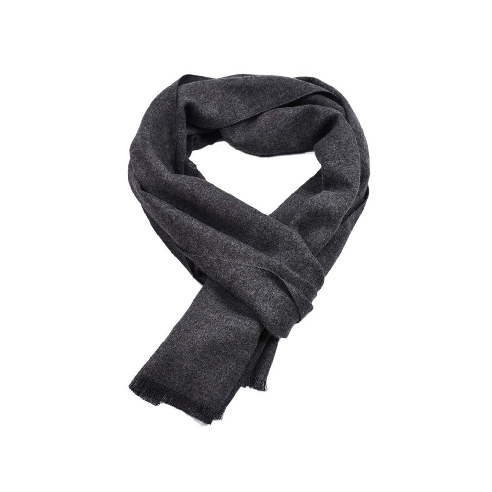 GUSTA Mens Faux Fleece Scarf Soft Long Solid Color Darn Dyed Winter Warm Scarf