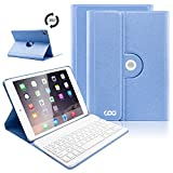 iPad Keyboard Case 9.7 for New 2018 iPad 6th Gen/iPad Pro 2017/iPad Air 2/iPad Air, 360 Rotatable/Wireless Bluetooth/Apple Tablet Slim Cover/Smart Auto Sleep-Wake (Sky Blue)