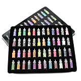 Healthcom 48 in 1 Nail Decals Nail Art Set Sequins Powder Color DIY Nail Decorations Glitter Rhinestones Pearls Nail Art Equipment