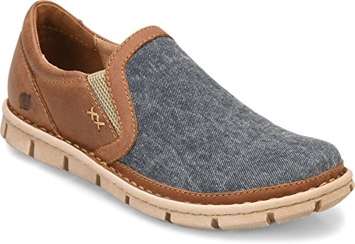 with mastercard cheap price Born Mens - Sawyer Navy/Light Brown Canvas low shipping cheap online 0Mpmct