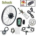 SCHUCK-Kit-Motore-di-conversione-Bici-elettrica-Ruota-Anteriore-26-Pollici-36V-250W-Bicicletta-elettrica-con-acceleratore-Senza-spazzole-Motore-acceleratore-a-Pollice-e-Display-LCD6