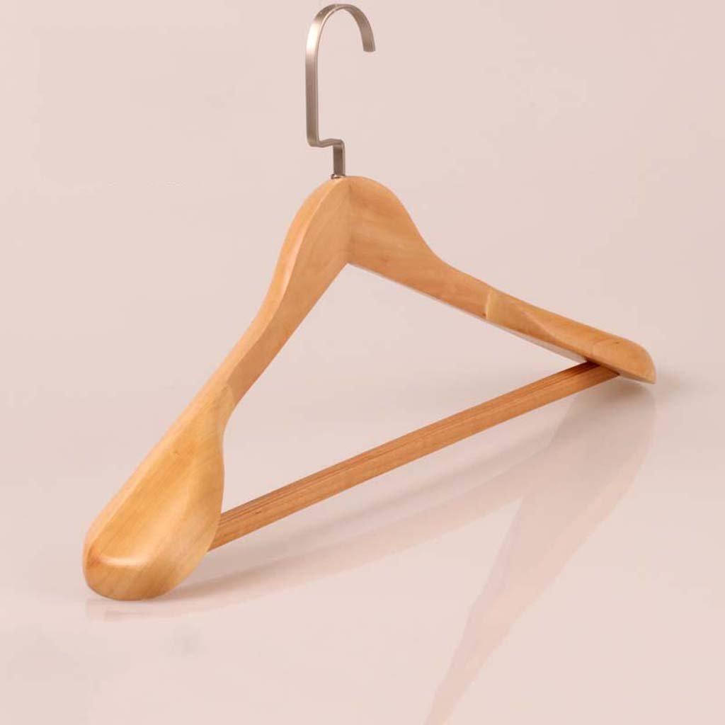 Drying Racks Wardrobe Hanger Clothes Rack Wood Wide Shoulder Solid Wood Hanger Suit Hanger Wooden Coat Hang Clothes Hanging Wood Clothes Support (Size : Women -39cm)