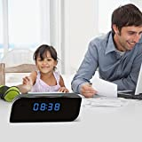 TKSTAR Wi-Fi Alarm Clock Camera ,HD 1080P Baby Monitor Camera for Home Security Support IOS Android Smartphone APP Remote View with Night Vision SW08
