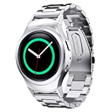 Gillberry Stainless Steel Watche Band + Connector For Samsung Gear S2 RM-720 (Silver)
