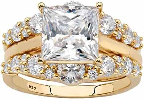 Goldenstar 0.23Ct.White Diamond Ring 925 Sterling Silver Fancy Love Ring