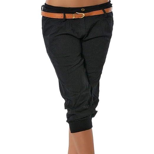 ShallGood Donna Casuale Pantaloncini Estivi Basic 3 4 Leggings Pinocchietto  Sport Fitness Dance Capri Vintage Bermuda Pantaloni  Amazon.it   Abbigliamento 0e80a75c7548