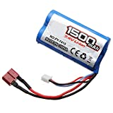 lithium battery car - Tecesy RC Car Battery Rechargeable Lithium Battery 7.4V 1500mAH 2S 25C for all 1:12 Scale High Speed Truck