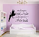 ALL YOU NEED IS FAITH AND TRUST AND A LITTLE BIT OF PIXIE DUST #22 ~ WALL DECAL, 18'' X 28''
