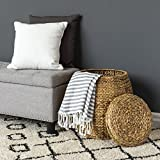 Best Choice Products Multi-Purpose Handcrafted Seagrass Wicker Basket Organizer w/Lid for Sitting, Storage, Laundry