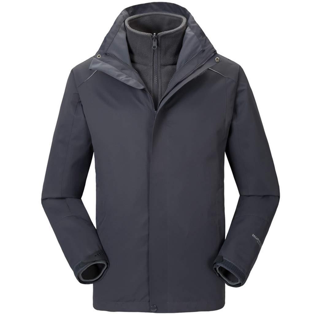 Herren Outdoor 3-in-1-Softshell-Jacke Berg-Winter-warme Jacke wasserdicht Winddicht Mäntel Wandern Leichte Hood Overcoat Ski Klettern Bekleidung