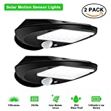 Solar Lights Outdoor,SOLMORE 30 LED Solar Powered Porch Light, Solar Motion Sensor Security Lights, Wireless Waterproof Night Light Outdoor for Driveway Garden Wall Deck Yard Stairway Patio (2 PACK)