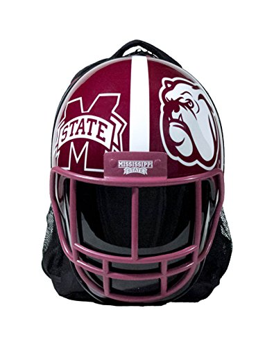 NCAA Mississippi State Bulldogs Mississippi State Bulldogs Football Helmet Backpackmississippi State Bulldogs Football Helmet Backpack, Maroon/ White, One Size