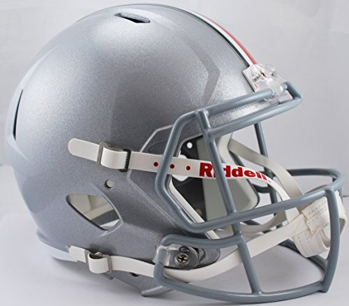 NCAA Ohio State Buckeyes Full Size Speed Replica Helmet, Red, Medium by Riddell