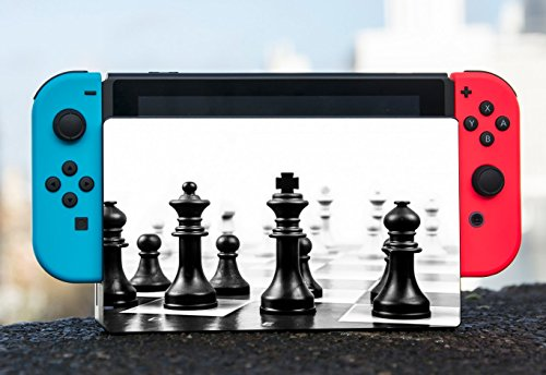 Chess Black and White Nintendo Switch Dock Vinyl Decal Sticker Skin by Moonlight Printing ()