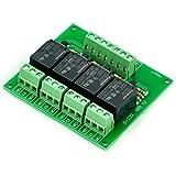 Four(4) SPDT 10Amp Power Relay Module, DC12V Version, for Arduino / PIC / 8051