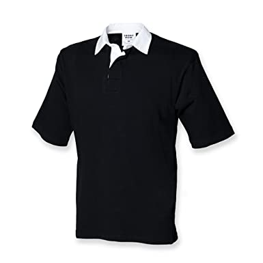 30d6a6e018d Front Row Men's Short Sleeve Rugby Shirt: Amazon.co.uk: Clothing