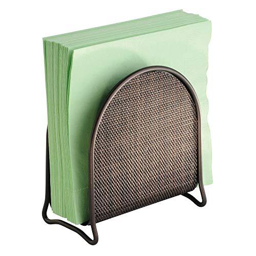 (mDesign Napkin Holder for Kitchen Countertops, Table - Bronze)