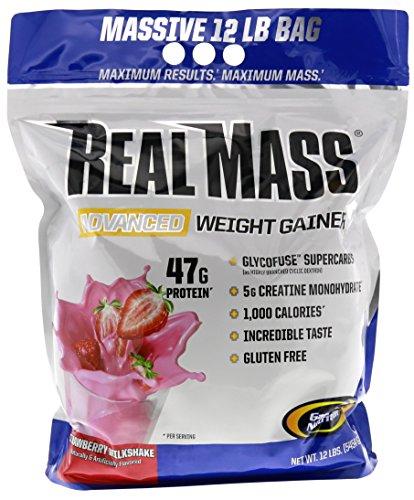 Gainer Strawberry Milkshake (Gaspari Nutrition Real Mass Advanced Weight Gainer, Strawberry Milkshake, 12 Pound)