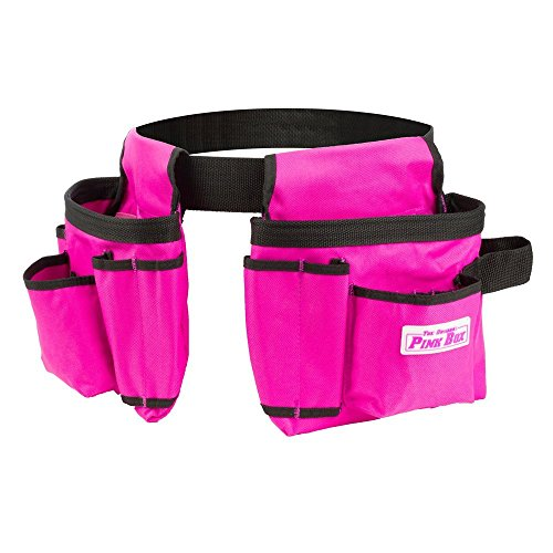 The Original Pink Box PBKBELT Tool Belt, 10-Pocket, Pink, Kids - Pink Belt Tool