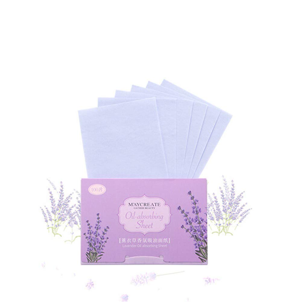 Allbesta Natural Oil Absorbing 100 Sheets Tissues Face Oil Blotting Papers Makeup Acne Prone Skin Daily Use